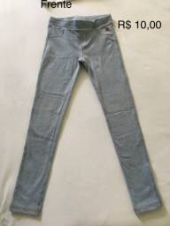 Legging jeans tamanho 7/8 anos