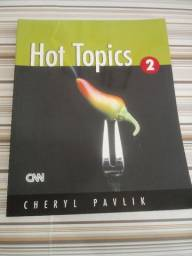 Livro de Inglês - Hot Topics 2 - Student book - praticamente novo