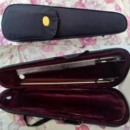 Violino michael 4/4 com estante