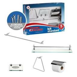 Título do anúncio: Kit acessórios banheiro alumínio Balibox standard
