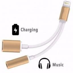 Adaptador Lightning Fone de Ouvido e Carregador Iphone 7