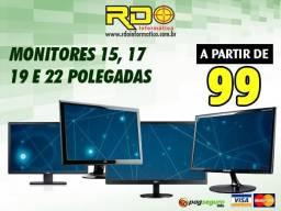 Monitores 17'' Diversas Marcas LG, Samsung, AOC, Dell, Acer, Lenovo, HP, Philips e Sony