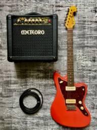 Guitarra Jazzmaster pouco usada, blindada e regulada!