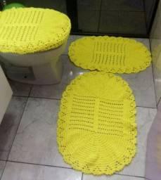 Conjunto para banheiro de crochê