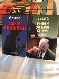 Livros Jô Soares O Xangô de Baker Street e Homem que Matou Getúlio Vargas