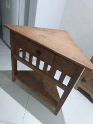 Título do anúncio: Rack de canto madeira de demolição