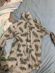 Camisa botao manga longa