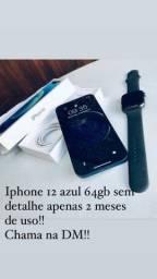 iPhones 12 64gb Azul