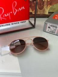 Óculos De Sol Ray Ban Rb3647 Double Bridge Rose