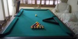 Mesa de Bilhar, Sinuca, Futebol de Botão e Ping Pong, completa com acessórios