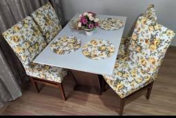 Capa para cadeira Impermeável, mesa de jantar