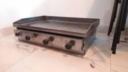 Chapa de ferro à gas p/ cozinha