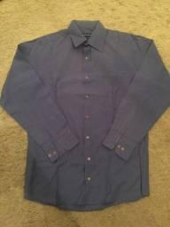 Camisa Social Vangard Azul Tamanho P (Número 37) Excelentes Condições Impecável Zerada!