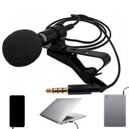 Microfone Lapela Profissional Lavalier Original Jh043 Stereo