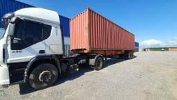 Aluguel, carreta, cavalo mecanico, transporte container