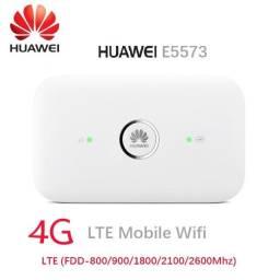 Roteador Wifi Portátil 3G / 4G Lte Huawei E5573c (Internet Móvel Compartilhada)