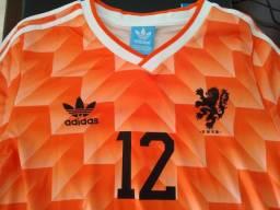 Camisa Retrô Holanda 1988 - Nova, sem uso