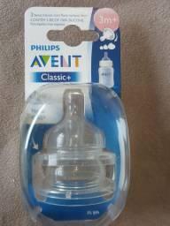 Bicos para mamadeira Avent Classic com 2 peças