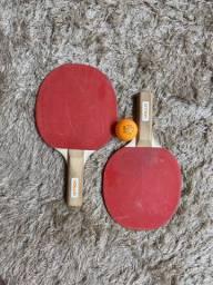 Raquetes de ping pong, com bolinha
