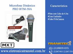 Microfone Dinâmico - Pro BTM-58A