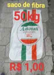 SACOS DE FIBRA 25KG É 50KG