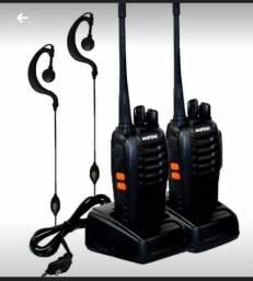 o Radio Comunicador Walk Talk Baofeng Bf-777S + Fone de Ouvido. Alcance de até 4km