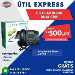 Kit Celular Rural - Telefone + Antena + Cabo