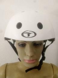Oportunidade - capacete traxart branco liso