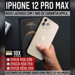 iPhone 12 pro max 512gb, aceitamos seu iPhone usado como parte do pagamento.
