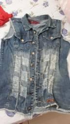 Colete/jaqueta jeans 15,00