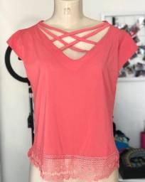 Título do anúncio: Blusa rosa goiaba