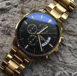 Relógio Blindado Nibosi Original Masculino Anti-risco Funcional Luxo