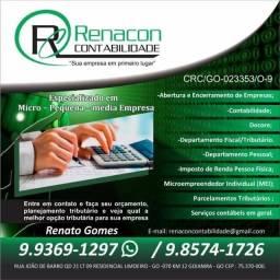 Abertura de Empresas, Alterações e Baixas; Declaração Imposto de Renda; Contador; Decore.
