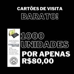 Título do anúncio: Cartões de Visita 1000und 4x1 + Arte Grátis