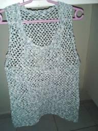 Camiseta de crochê