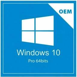 Licença Microsoft Windows 10 Pro 64 Bits Português OEM - Original com NF - Loja Coimbra