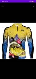 Camisa pesca UV50+ 60,00 no dinheiro