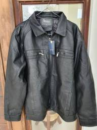 Título do anúncio: Jaqueta masculina Preta -couro sintético