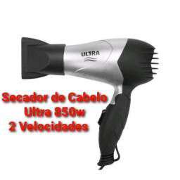 Secador de Cabelo Ultra 850w Com ions 2 Velocidades Cinza e Preto