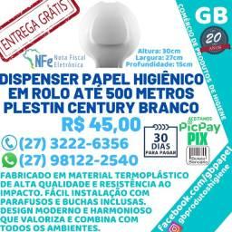 Título do anúncio: Dispenser Porta Papel Higienico R0LA0 Até 500 Metros Plestin N.F Entrega Gratuita