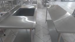 Mesa e pia de inox a pronta entrega