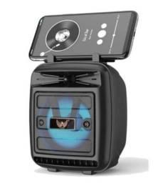 Título do anúncio: Caixa Som Bluetooth Caixinha Portátil e Recarregável com Usb Rádio Fm Sd - Altomex AL-1186