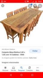 Mesa de madeira rústica (foto ilustrativa)