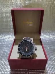 Título do anúncio: Relógio Masculino Weide AnaDigi WH-5203 - Prata e Preto