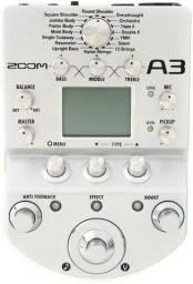 Pedaleira Acústica Zoom A3 para Violão Aço Nylon Violino Zoom A3