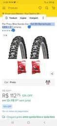 Par de pneus + câmara de ar