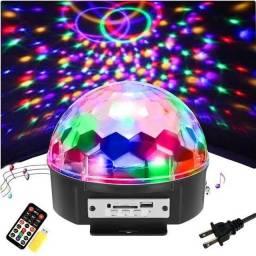 Globo led mágico speaker USB SD e micro sd