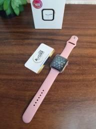 (Leia) Entrega grátis Smartwatch rosa new max x8 44mm