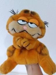 Raro Garfield de pelúcia tipo fantoche - Estrela anos 80