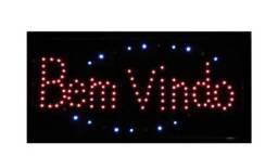 Título do anúncio: painel de led letreiro placa luminoso BEM VINDO LED PISCAR<br><br>